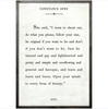 constance spry art print - white with grey wood frame