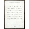 Frederick Buechner art print - white with grey wood frame