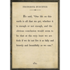 Frederick Buechner art print - cream with grey wood frame