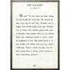 jim valvano art print - white with grey wood frame
