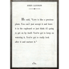 john lennon art print - white with grey wood frame