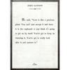 john lennon art print - white with grey wood frame