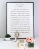 maya angelou art print - white with grey wood frame