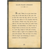 ralph waldo emerson art print - cream with grey wood frame