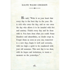ralph waldo emerson art print - white with gallery wrap frame