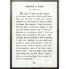 robert a ward art print - white with grey wood frame