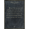 robert fulghum art print - charcoal with grey wood frame