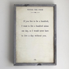 winnie the pooh art print - white with grey wood frame