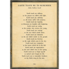 earth teach me to remember art print - cream with grey wood frame