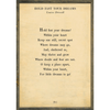 hold fast your dreams art print - cream with greywood frame