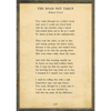 the road not taken art print - cream with greywood frame