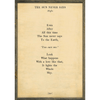 the sun never says art print - cream with greenwood frame