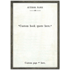 custom book collection art print - white