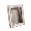 Glass Shadow Box with White Wash Frame - Newspaper Background