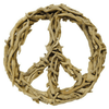 driftwood peace sign