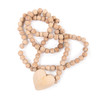 wood heart prayer beads