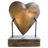 metal heart on base