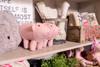 pink felt piggy bank