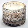 mercury glass round candle with open lid