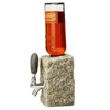 grey stone funky rock bottle dispenser