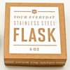 "stainless steel flask - ""three sheets to the wind"""