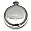 """stainless steel flask - """"put some hair on your chest"""""""
