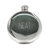 """stainless steel flask - """"neat"""""""