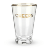 Gold Rimmed Cheers Pint Glass Set
