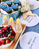 hello love muffin and hello darling melamine plates