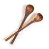 oiled acacia wood serving spoons