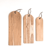 small, medium, and large sheesham wood serving boards