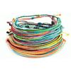 rainbow assortment of thread pull bracelets