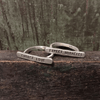 choose love and expect miracles bar rings