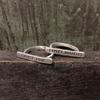 Sterling Silver Bar Ring - Choose Love