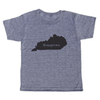 "grey t-shirt with black lettering - state of kentucky with ""homegrown"" written in the middle"
