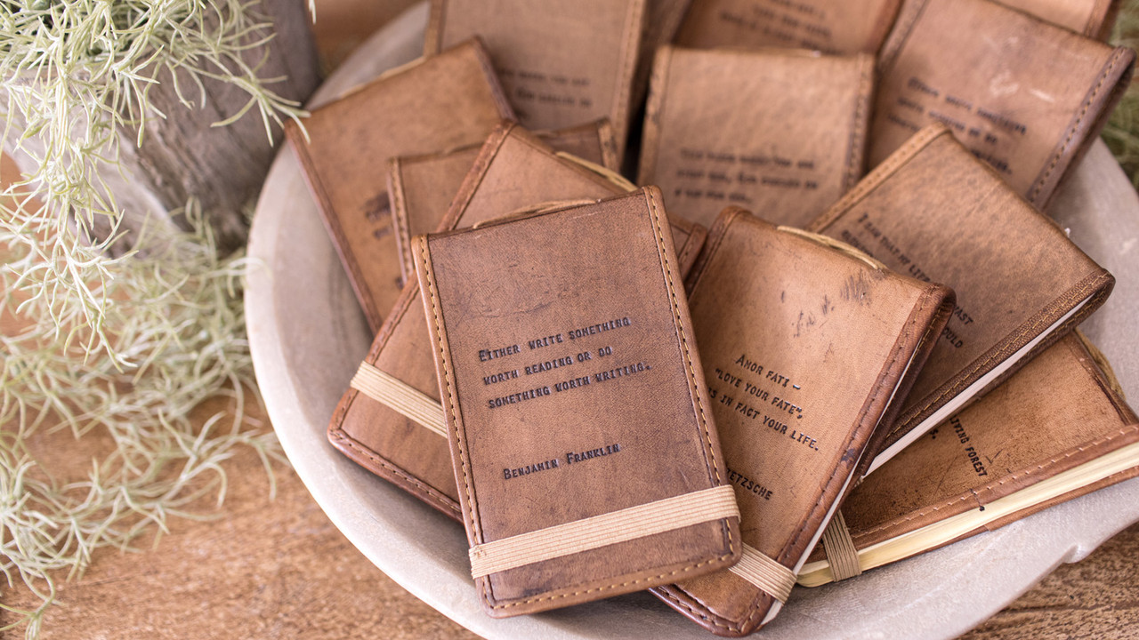 mini leather journals