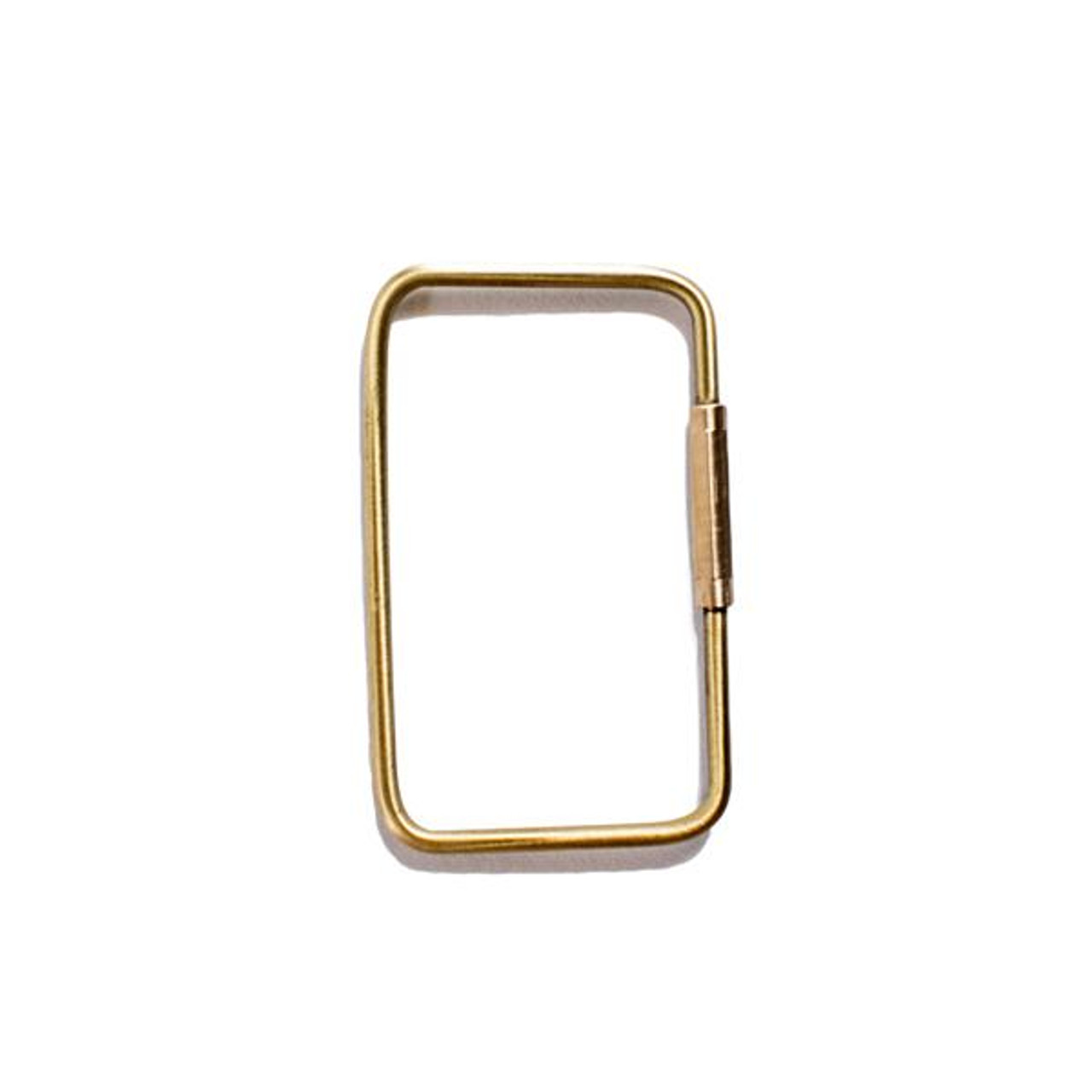 rectangle brass keychain