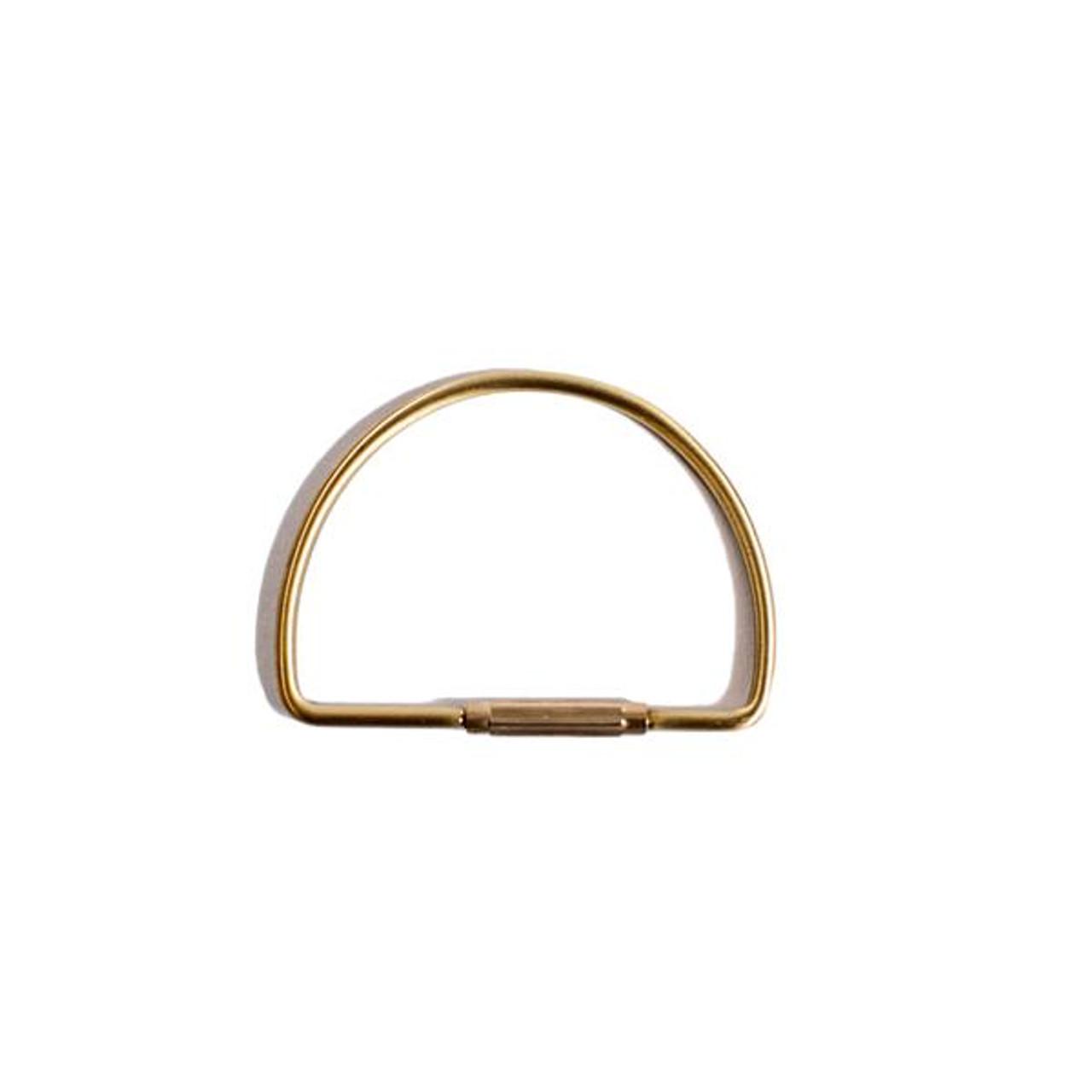 hemisphere brass keychain