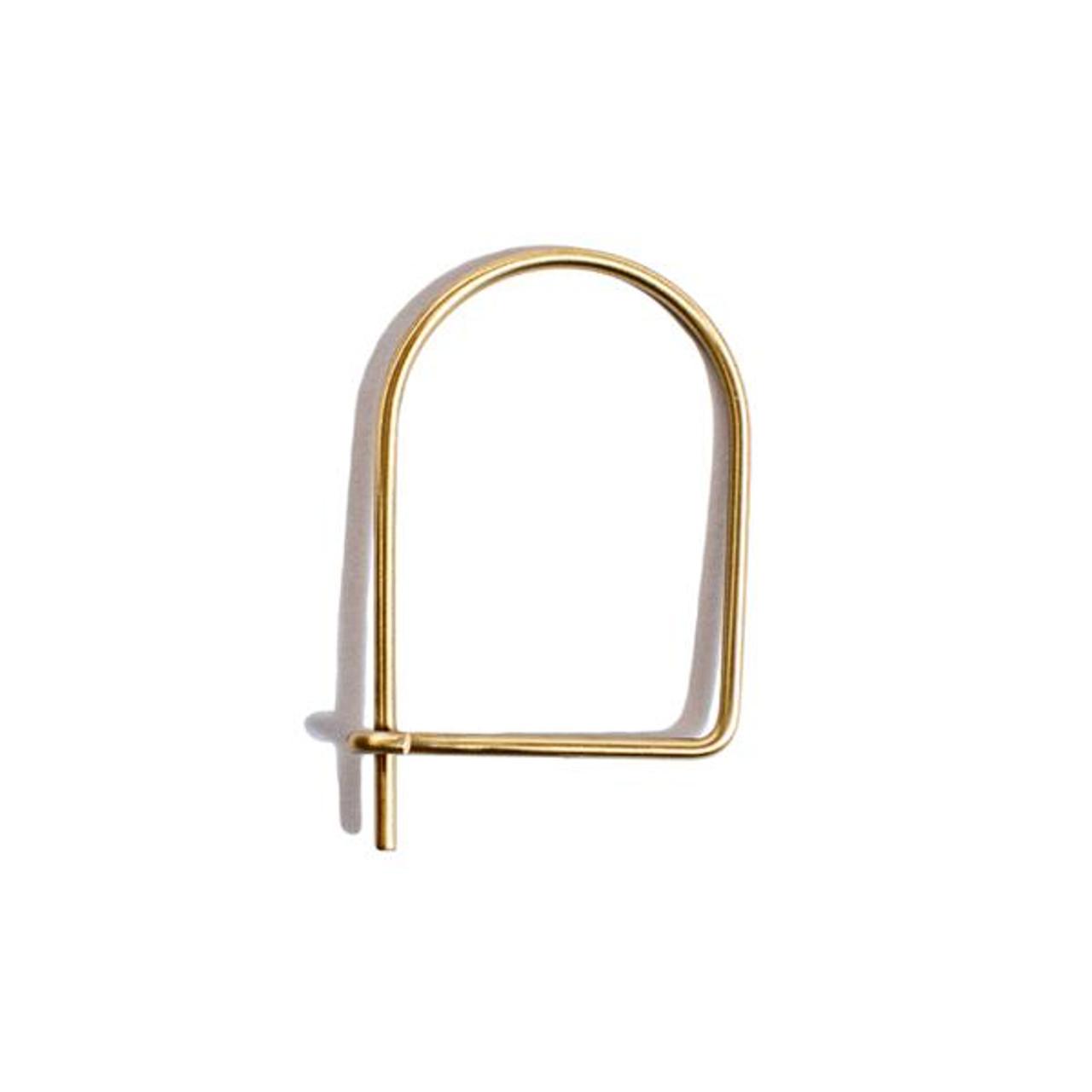 half oval brass keychain