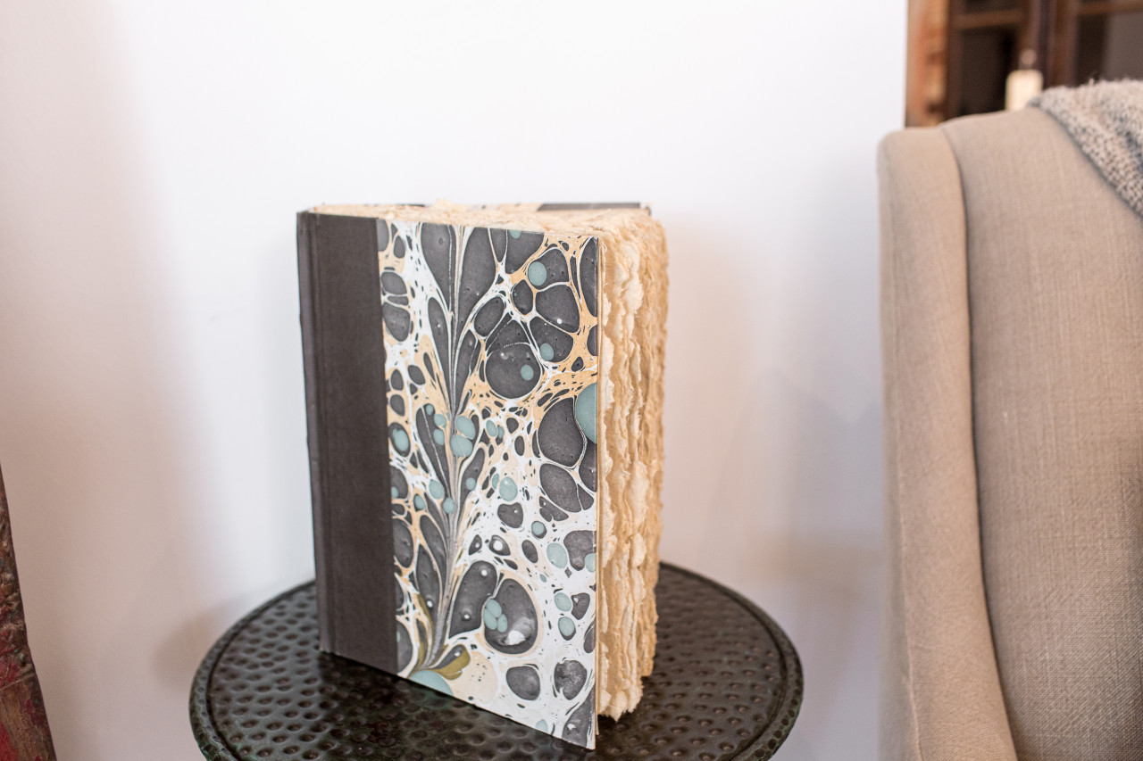 Brown, Green, and Gold Marble Journal