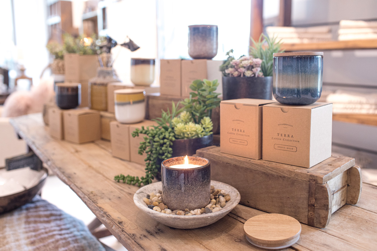 terra candle collection