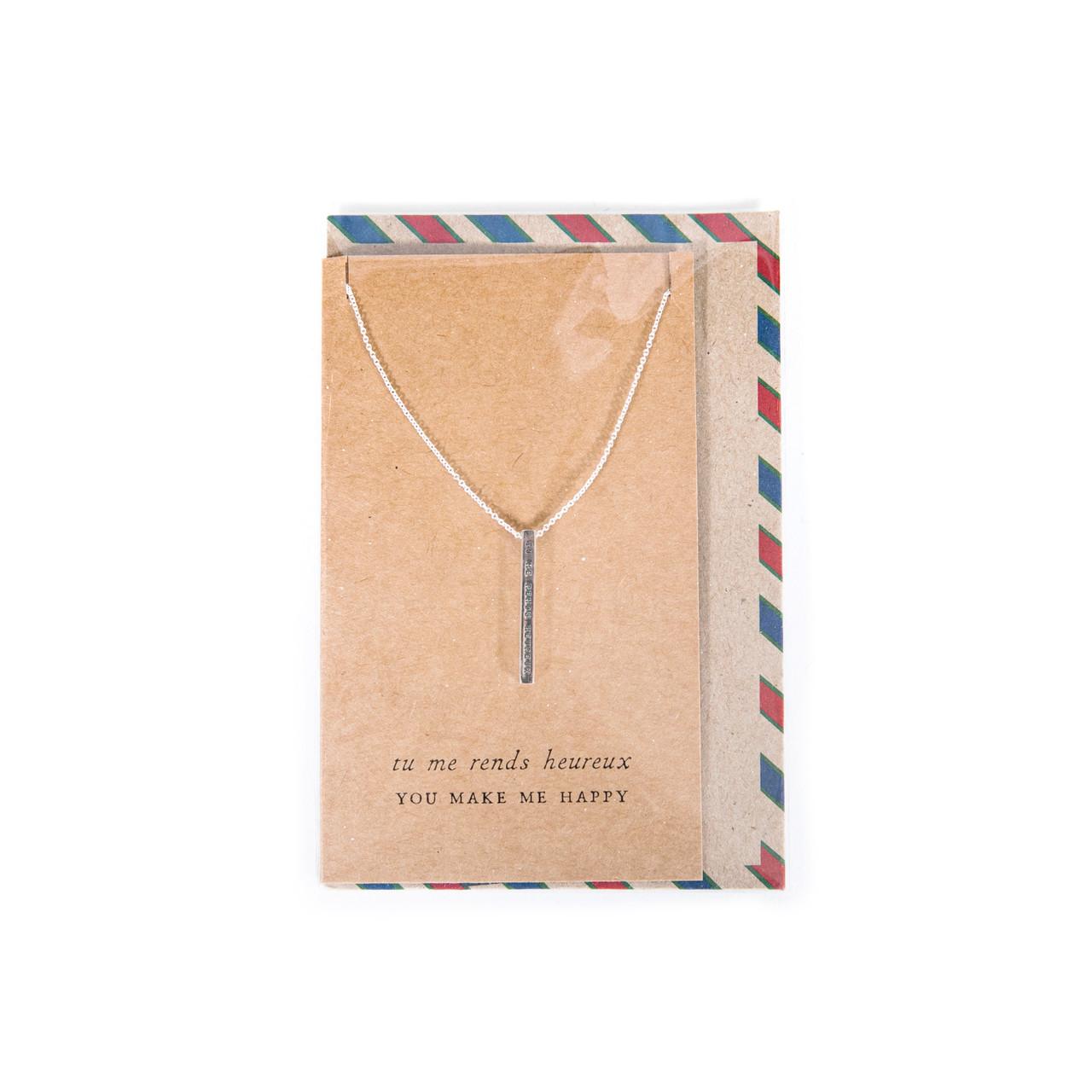 you make me happy necklace