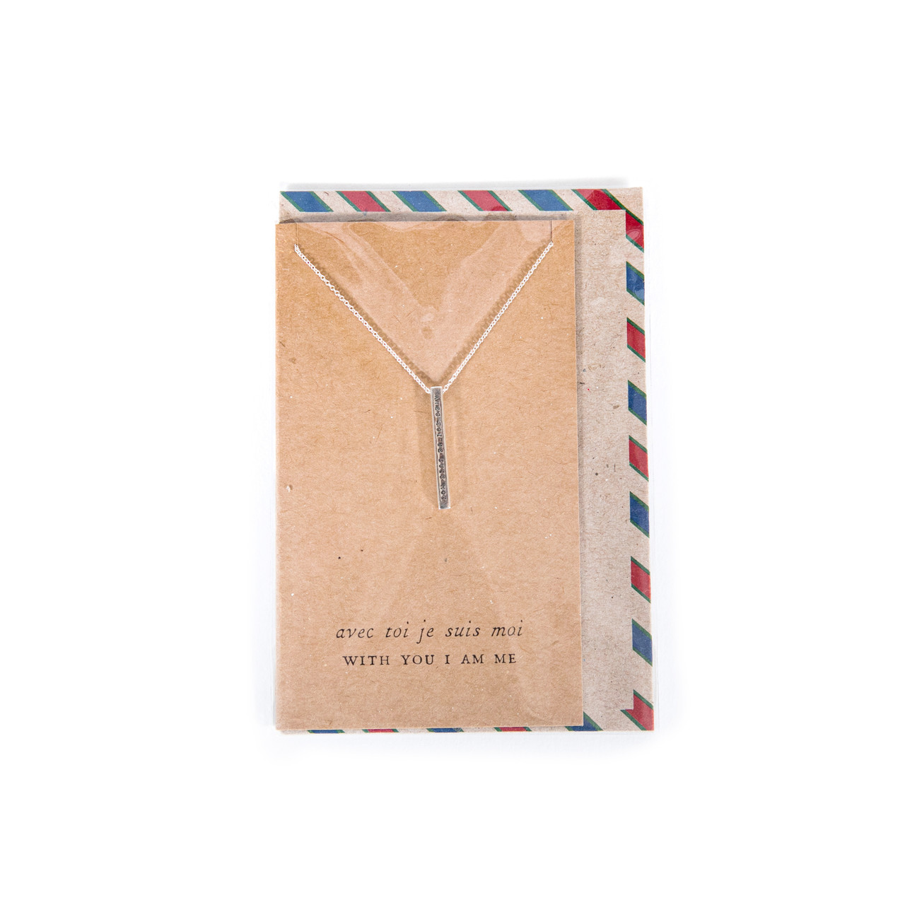 with you I am me necklace