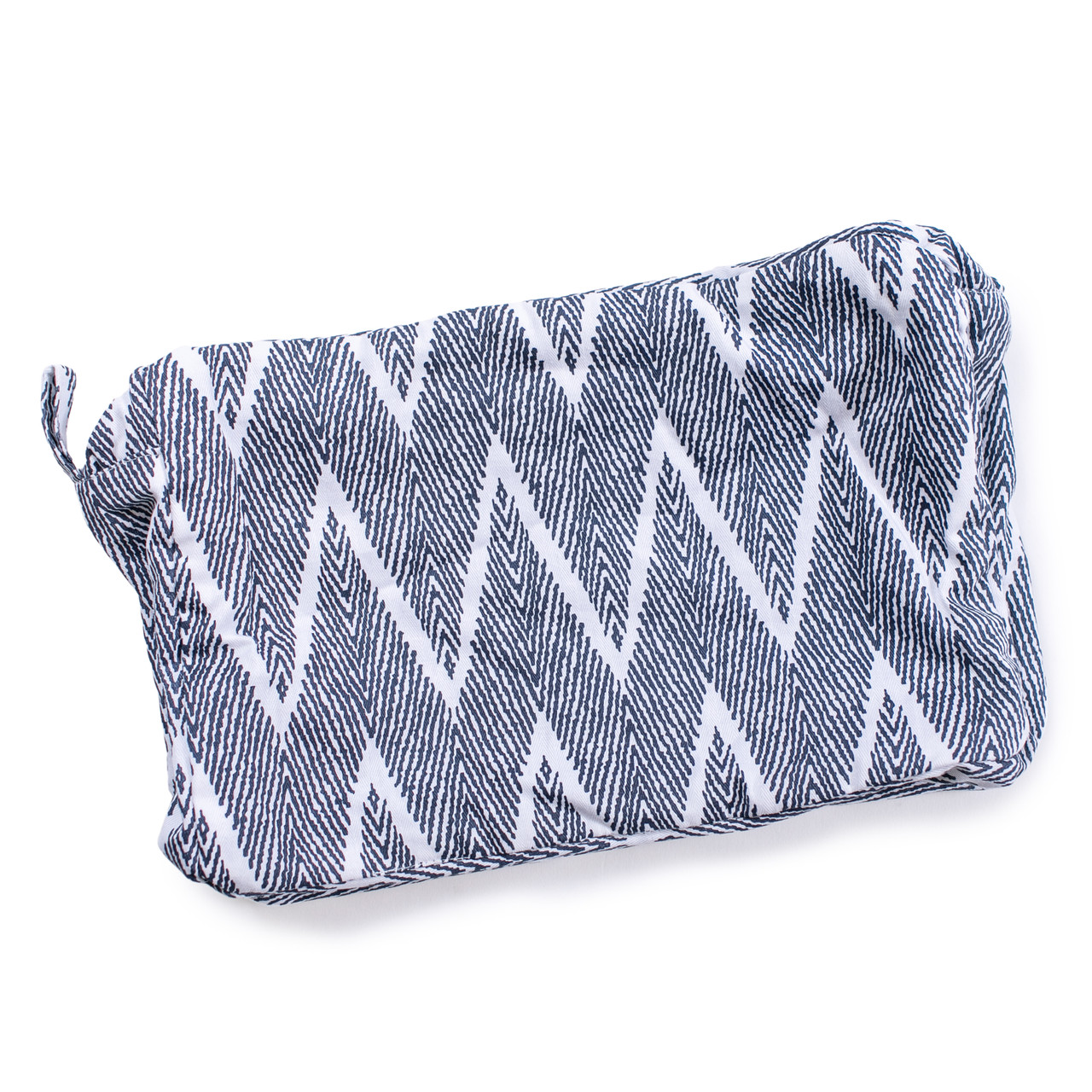 zig zag terry lined pouch