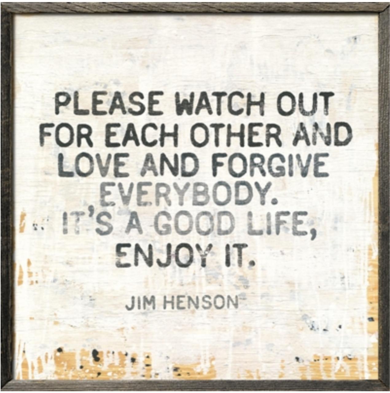 jim henson art print with greywood frame