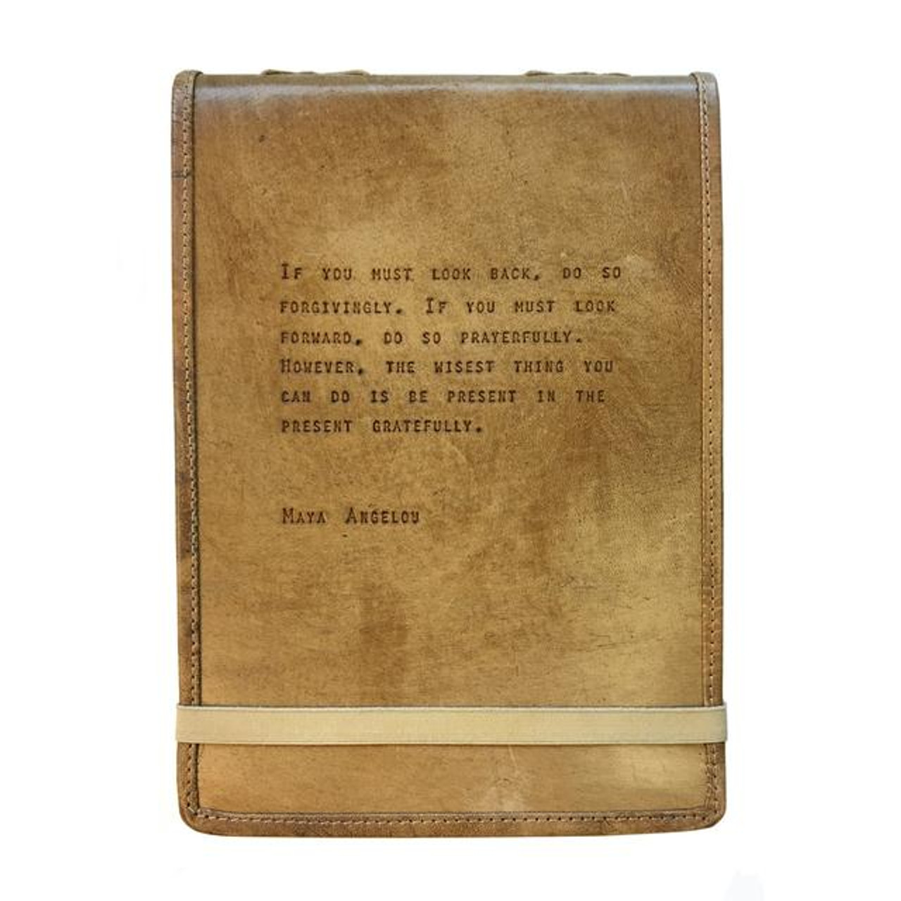 leather journal - if you must look back