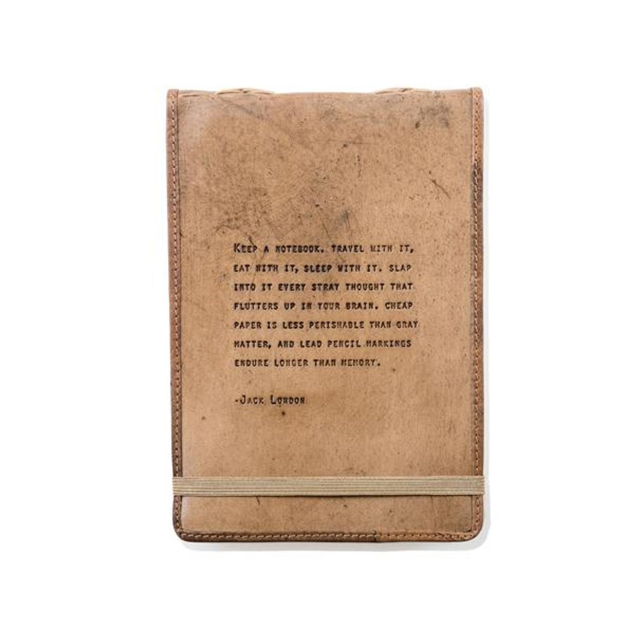 leather journal - jack london