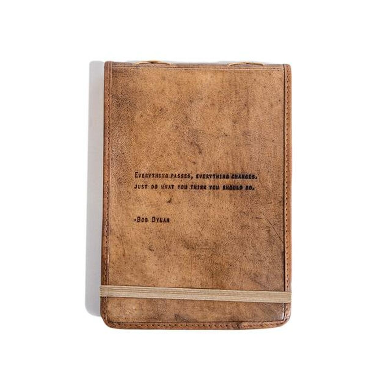 leather journal - everything passes