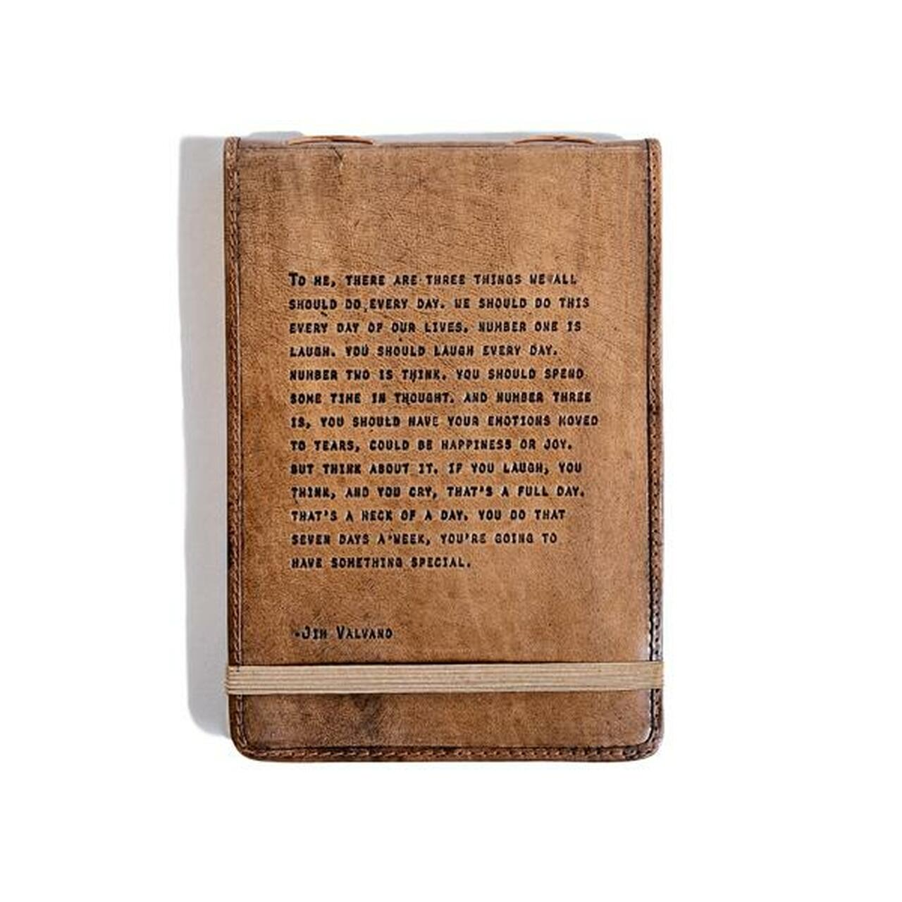 leather journal - there are three things