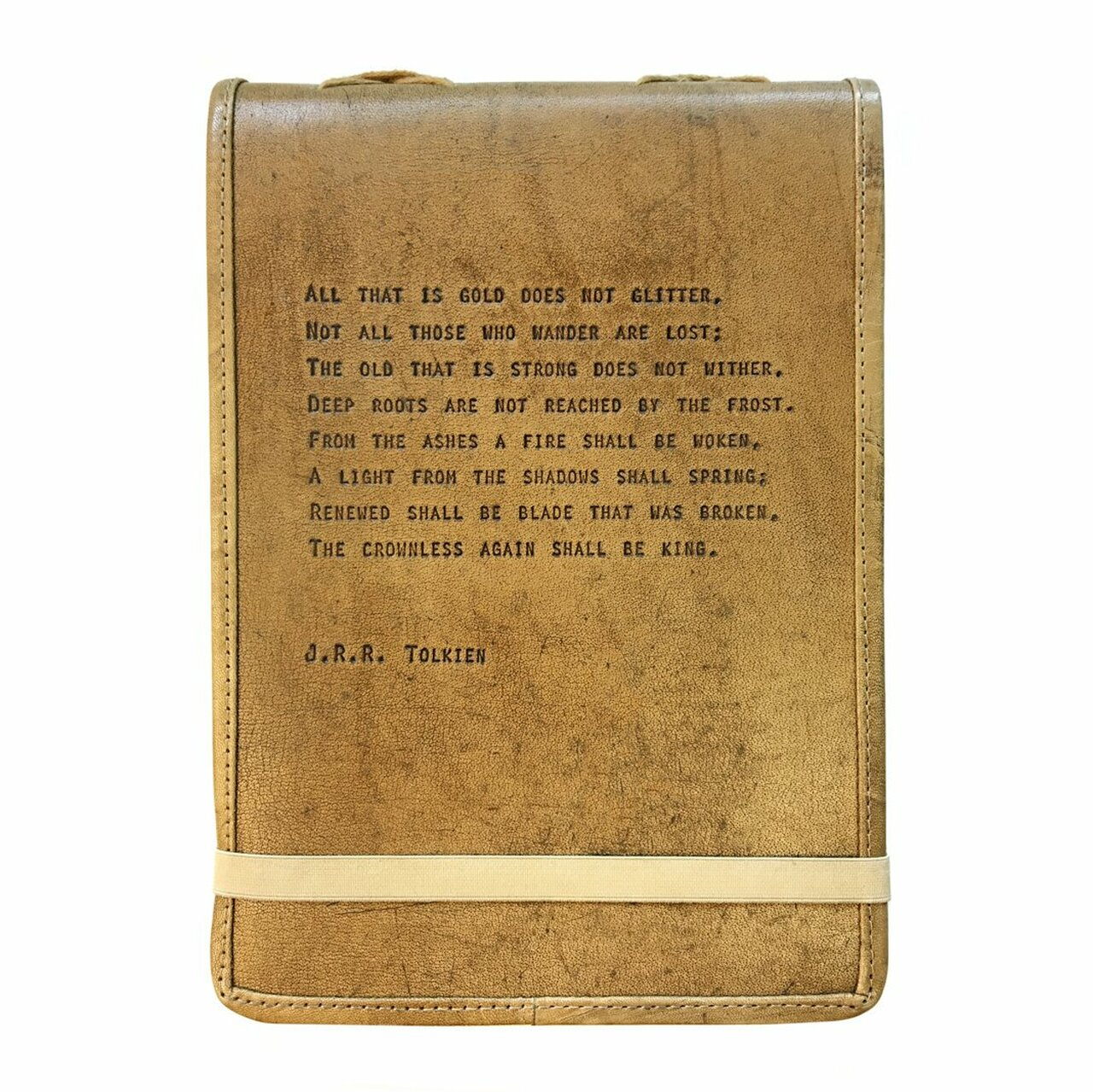 leather journal - all that is gold
